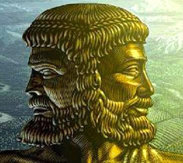 Roma döneminde kullanılan tanrı janüs büstü